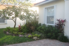 after weeding and mulching