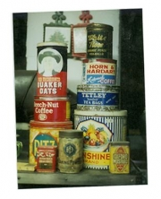 antique tins collection