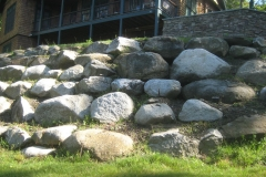 central portion of stone embankment